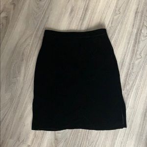 Madewell Velvet Pencil Skirt